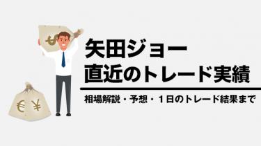 矢田ジョー直近のトレード実績