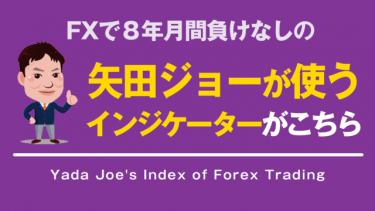 【FX】8年月間負けなし!矢田ジョーが使用しているインジケーターがこちら!