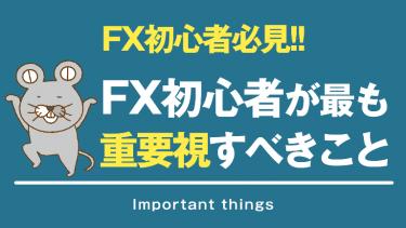 FX初心者が最も重要視するべきこと、その答えとは・・・