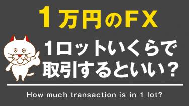 【FX】1万円でFXをするなら1ロットどの位で取引するべきか?