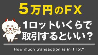 【FX】5万円でFXをするなら1ロットどの位で取引するべきか?